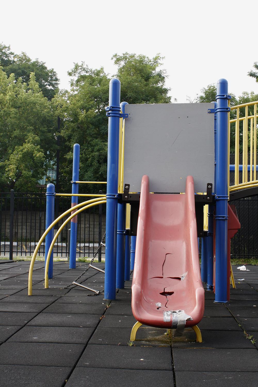 Slide at Ignace Paderewski Elementary