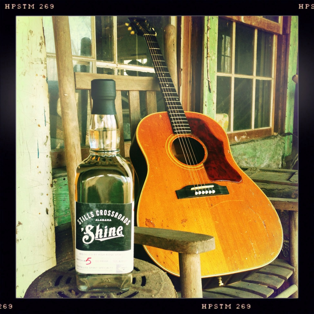 Stills Crossroads 'Shine makes pickin' on the porch special.