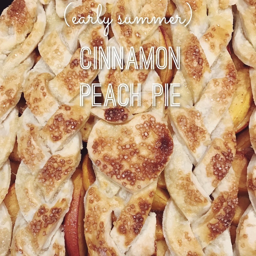 Cinnamon Peach Pie