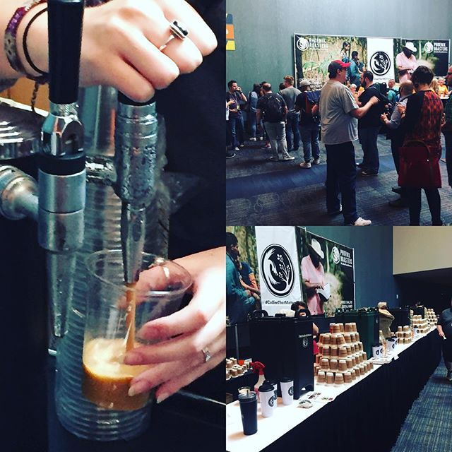 Quite a line for the Nitro Coffee courtesy of Phoenix Roasters! It's the hit of the Orange Conference!