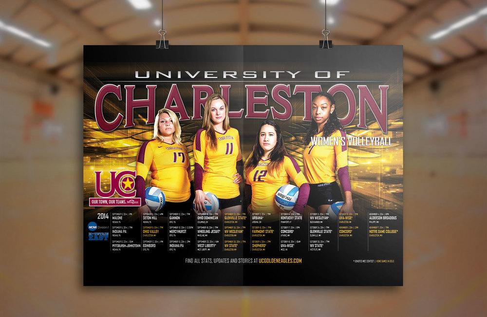 University of Charleston Volleyball Poster