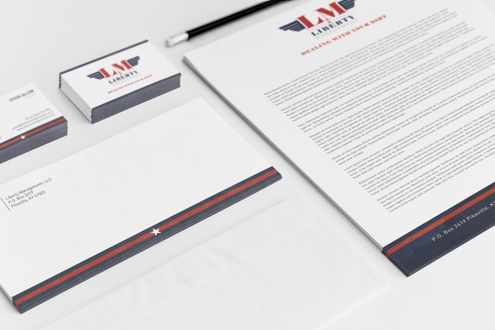 Liberty Management Logo Design andPrint Collateral