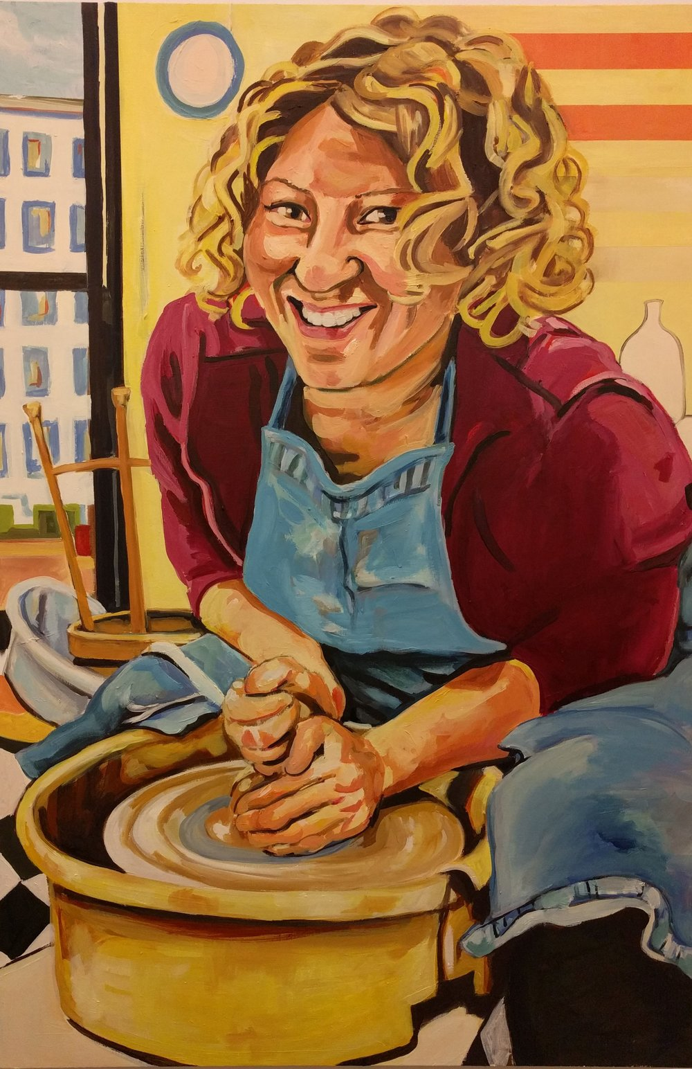 Portrait of Stacey (in her studio)