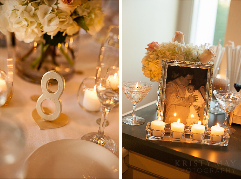 Love the wooden table numbers made by the bride's father!