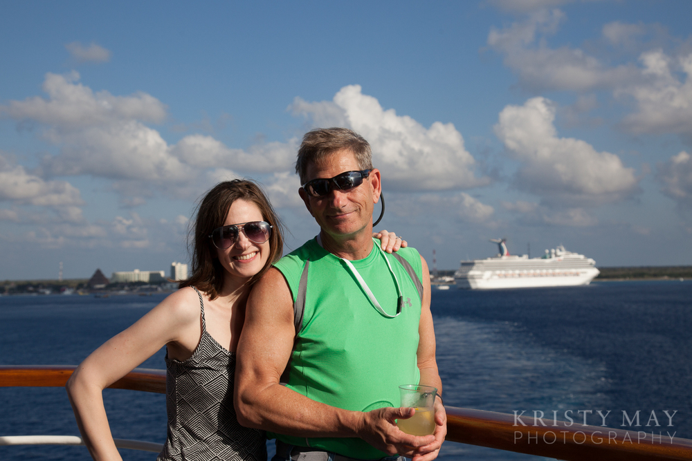 Dad and I, leaving Cozumel
