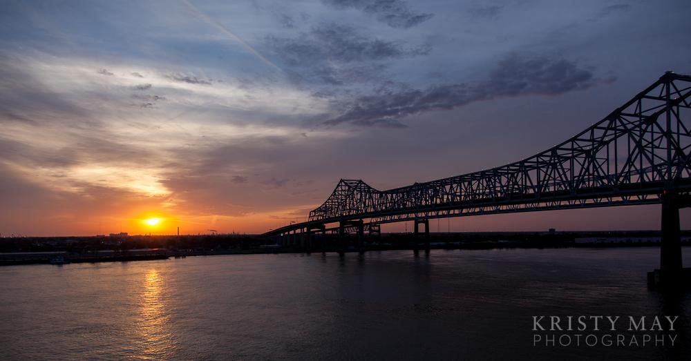 Sunrise on the Mississippi River