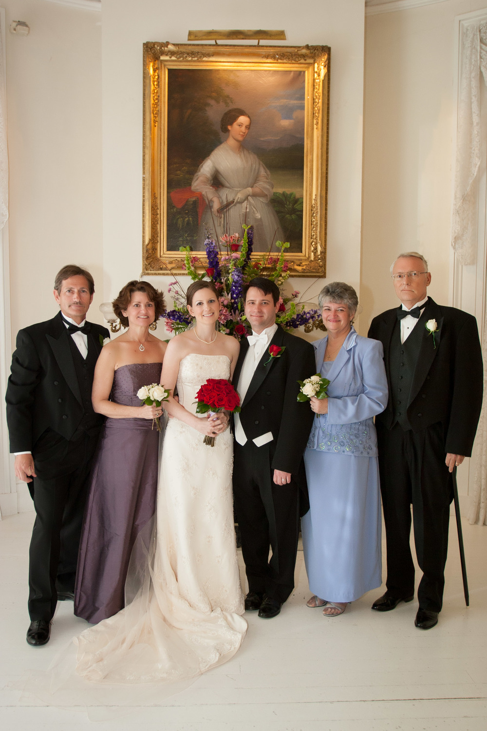 This is the photo my daughter will likely cherish as I cherish the similar photo of my parents with all of my grandparents. This is the only photo I know of all 6 of us together. I always take this photo at weddings.