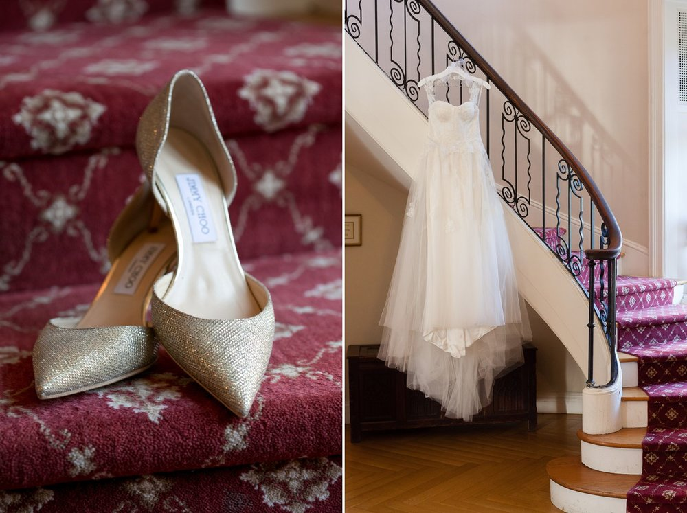 Wainwright House Wedding Dress and Shoes