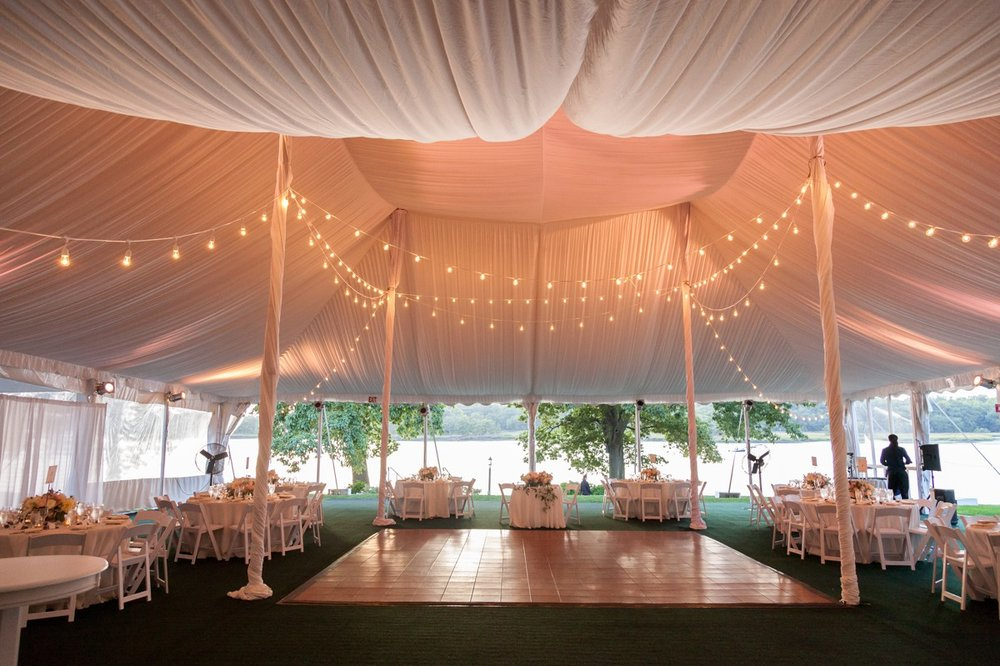Wainwright House Wedding Tent Setup