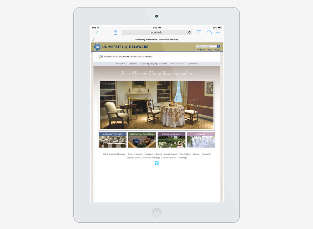 University of Delaware conference services website