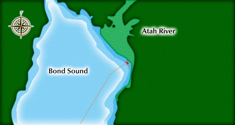 Atah River - Bond Sound - NOT FOR NAVIGATION