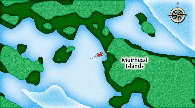 Muirhead Stern Tie Detail - Not For Navigation