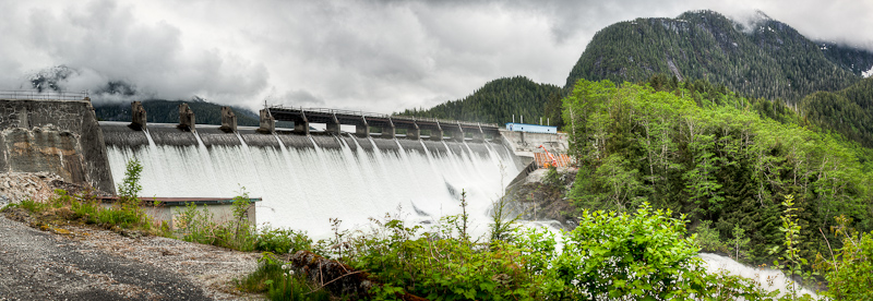 Built in the early 1900′s, the dam is an impressive sight