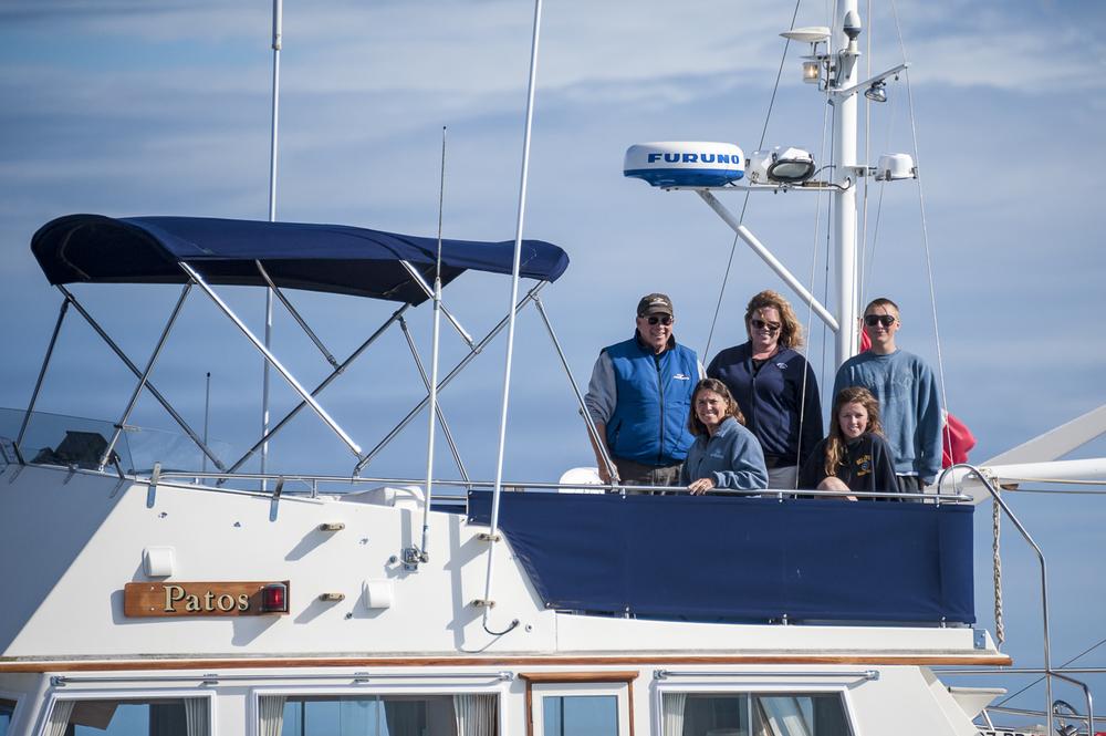 Happy crew aboard Patos