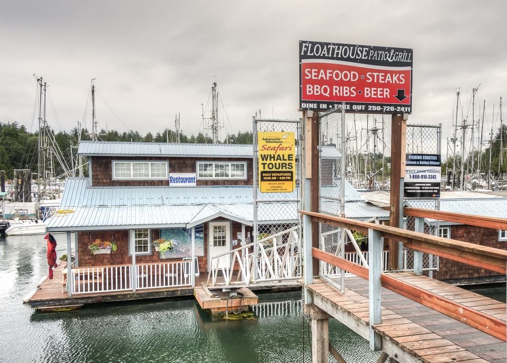 The Floathouase Restaurant at the Ucluelet docks