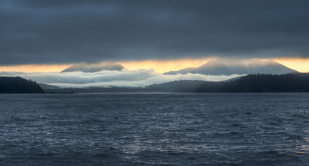 Sunrise tries to lift the cloud cover