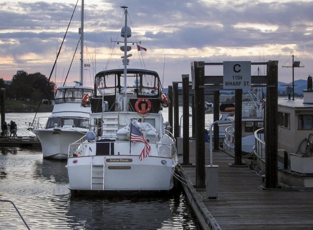 Alaskan Dream  tucked into her berth at Victoria