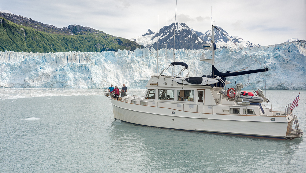 Deception  in front of the Mears Glacier