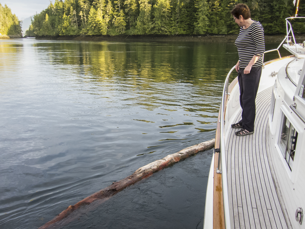 KAren DESPERATELY wants to cast off that log