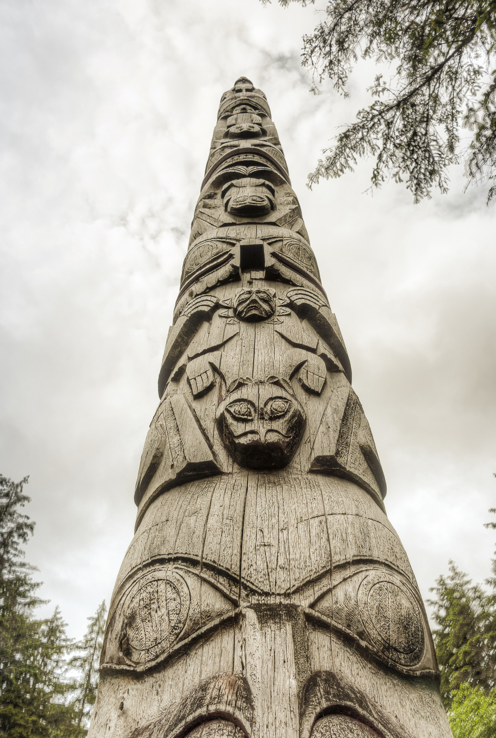A very traditional styled totem