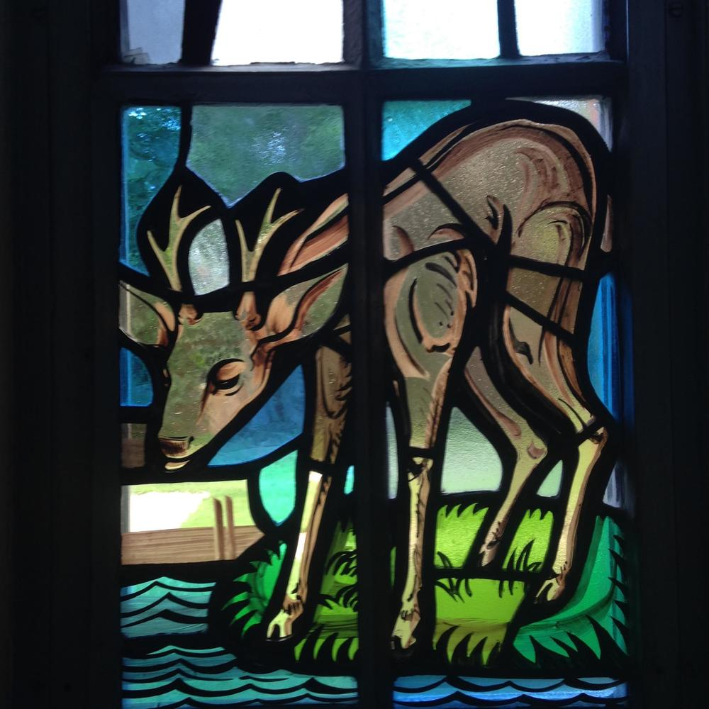 Indre McCraw Gordon Stained Glass replicated deer left panel.jpg