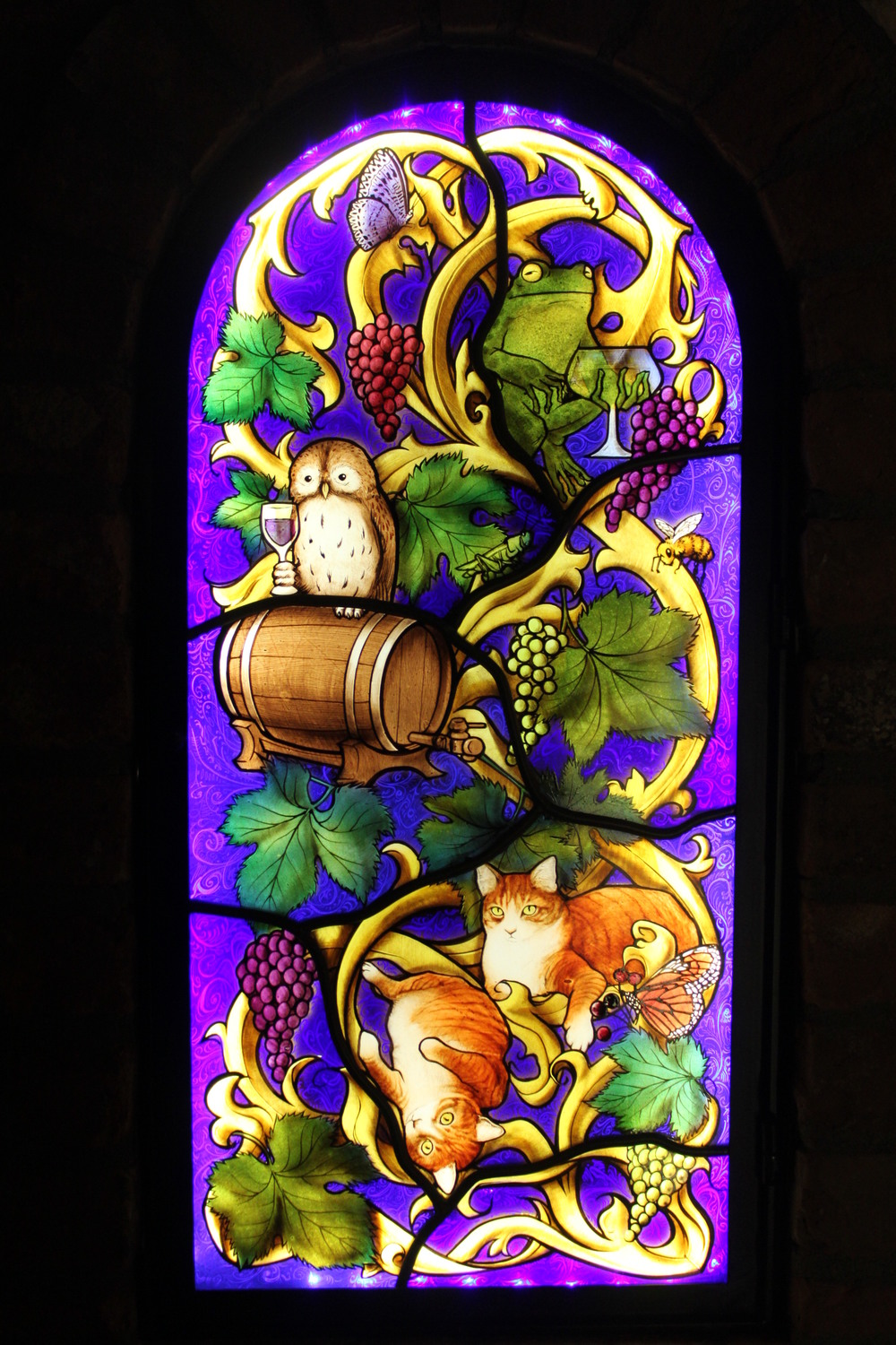 Indre McCraw Gordon Stained Glass wine cellar one of pair.JPG