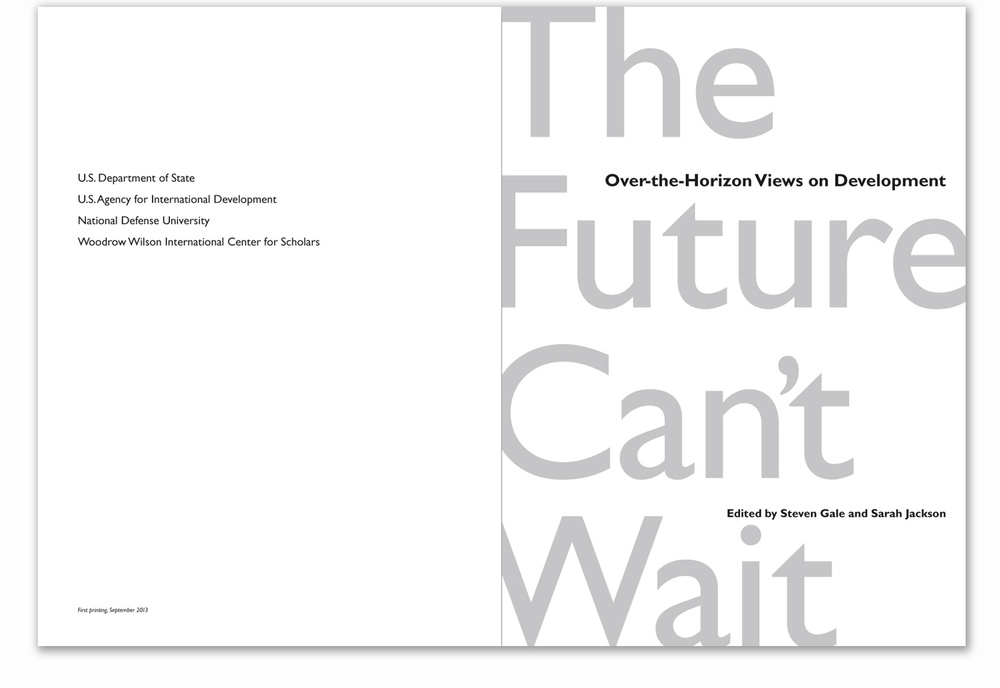 The title page features the same over-scaled title from the cover. The book's principal fonts are Gill Sans and Adobe Garamond.