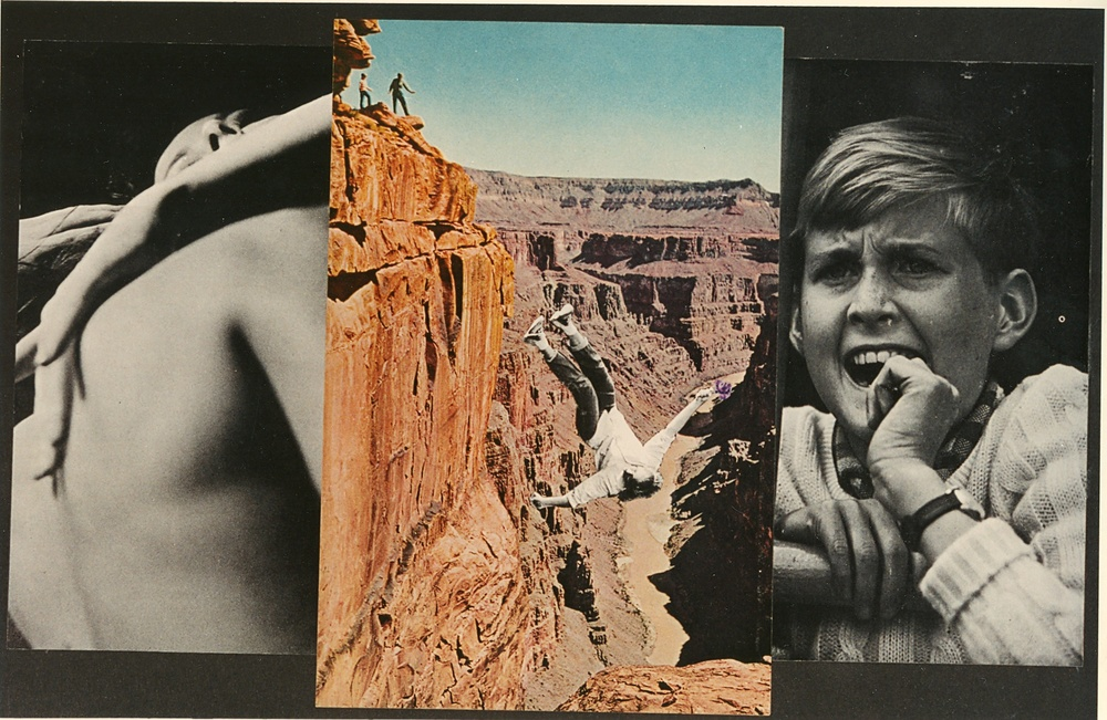David King.   Falling (Grand Canyon),  1996. photo-collage, 9'' x 14''.