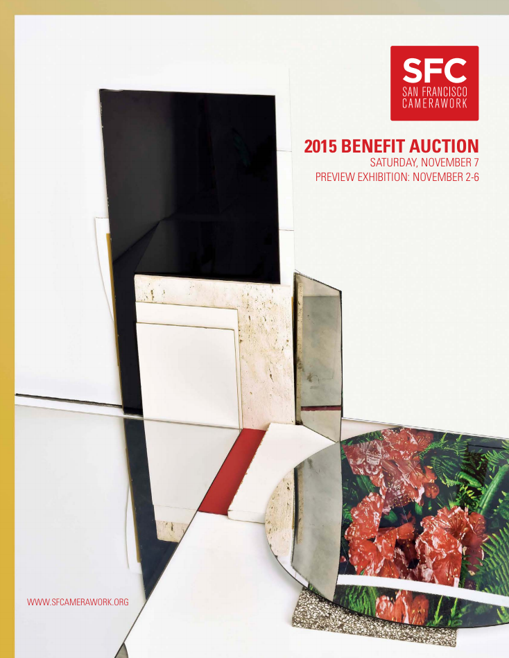 Benefit Auction printed catalog cover; artwork by Phillip Maisel.