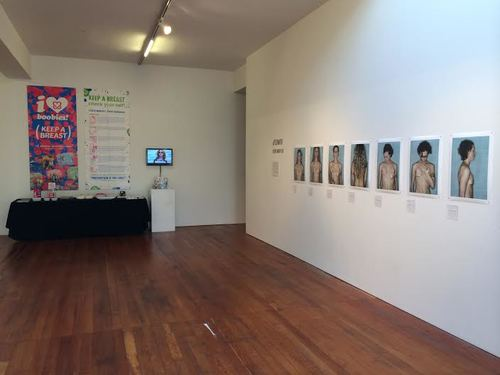 Left: The Keep a Breast Foundation; Right: Aftermath  by Kerry Mansfield