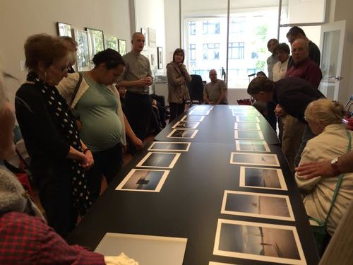 Amanda Bensel presents her work at the March Members' Critique