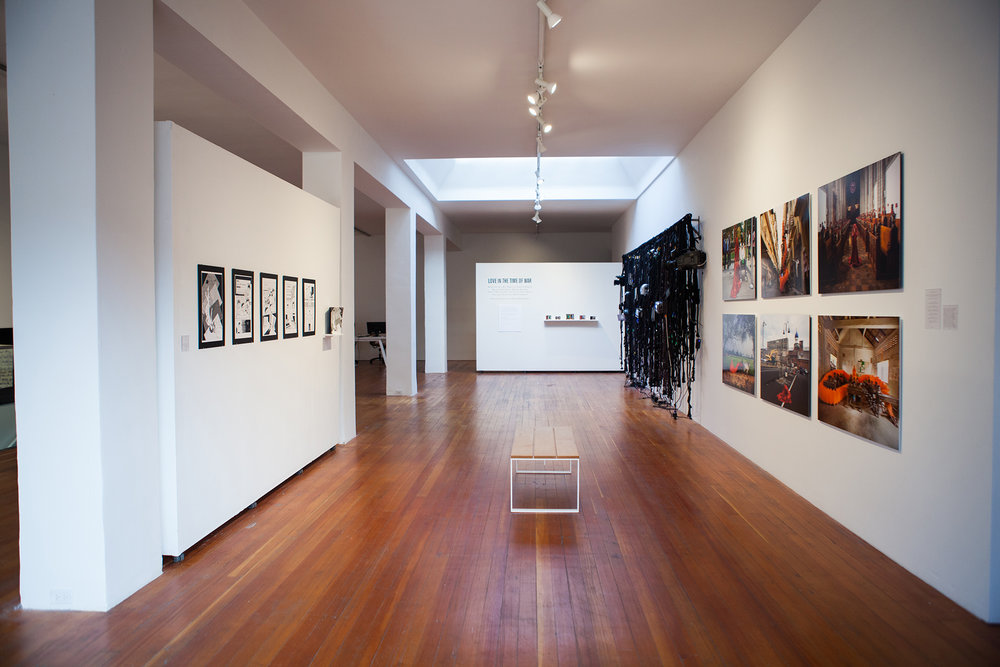 Installation view of Love in the Time of War