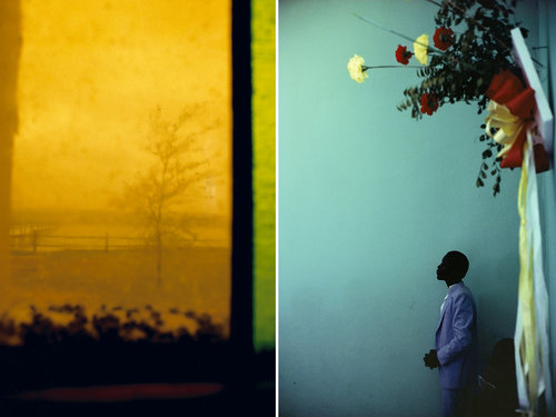 Left: Rebecca Norris Webb,  Stained Glass ; Right: Alex Webb,  Arcahaie, Haiti