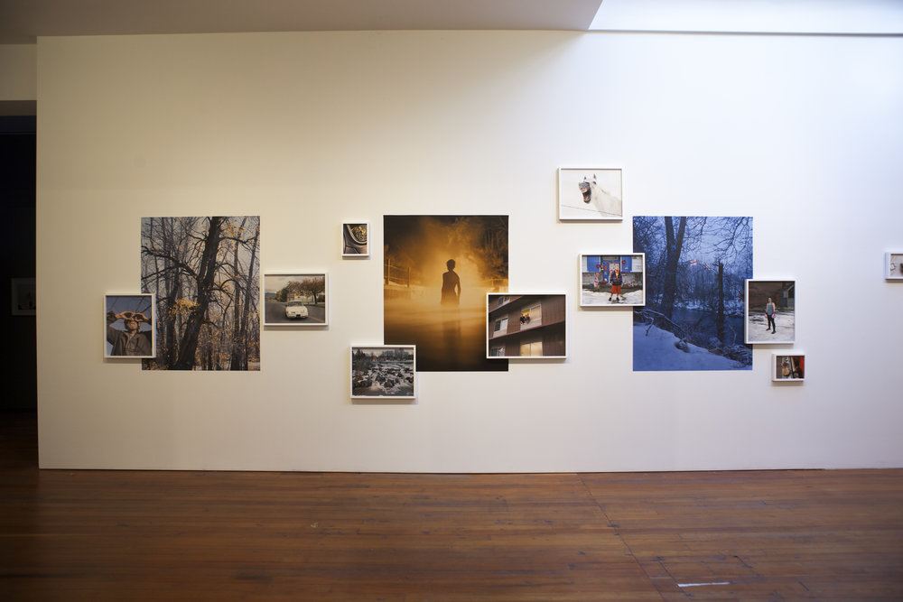 Installation shot of McNair Evans work.