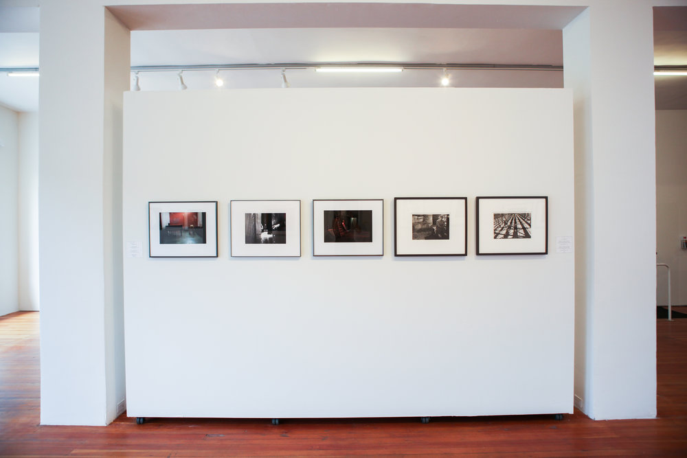 Installation view of Michele Brancati, Agathe Catel and Paul Turounet's work.
