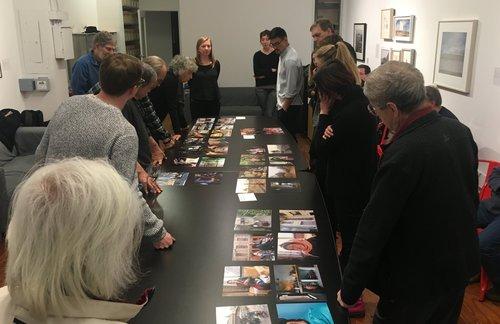 Amanda Bensel presents work at the SFC Members' Critique.