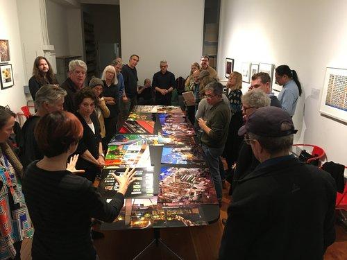David Goldberg presents work at the SFC Members' Critique