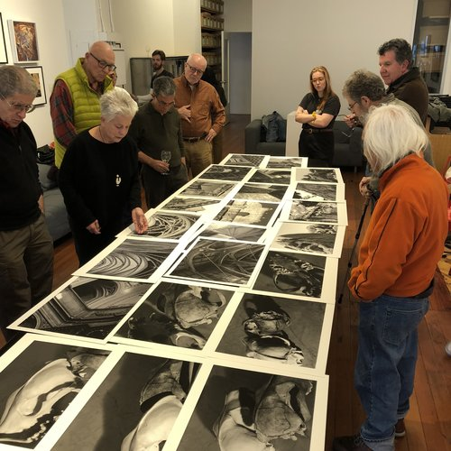 Jane Ivory presents her work at the April Members' Critique.