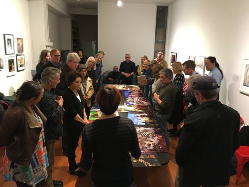 David Goldberg presents work at the members' critique