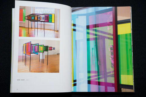 Spread from  Sanaz Mazinani: Signal to Noise  featuring  Dark Sight