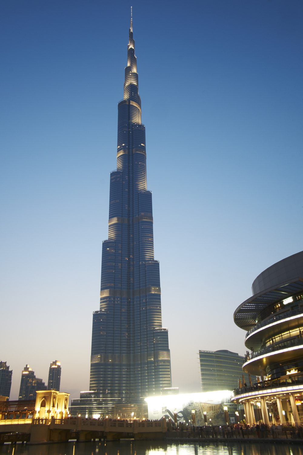 The Burj Khalifa at a staggering 828 metres high
