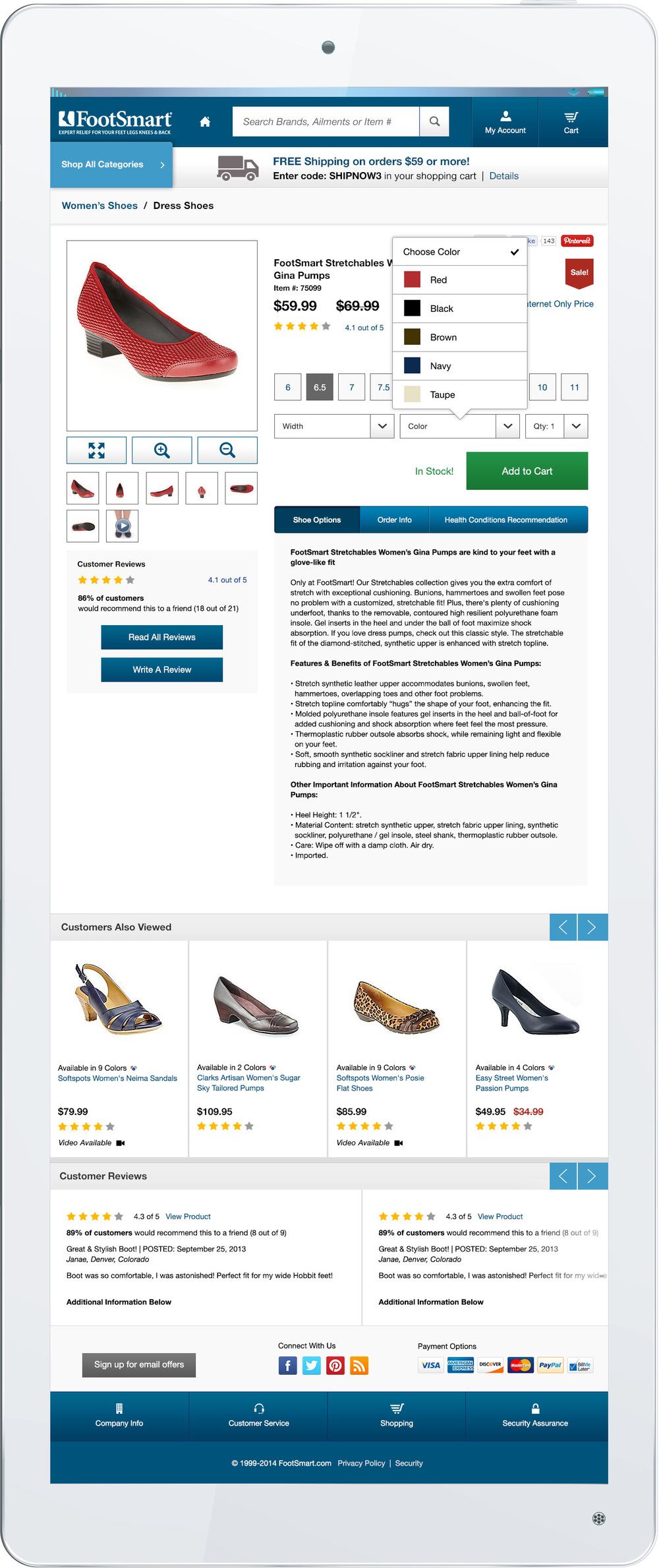 Product Detail Page with Color Selection