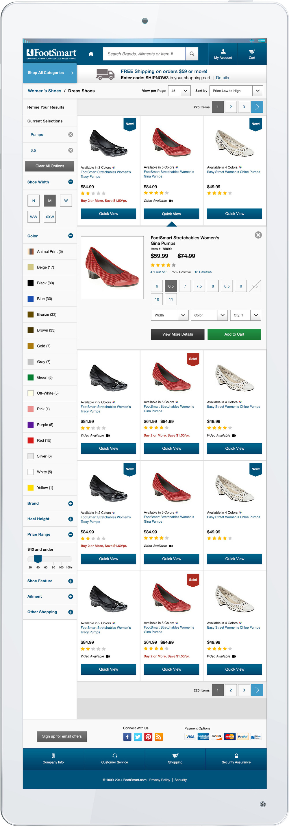 Product List Page with Quick View