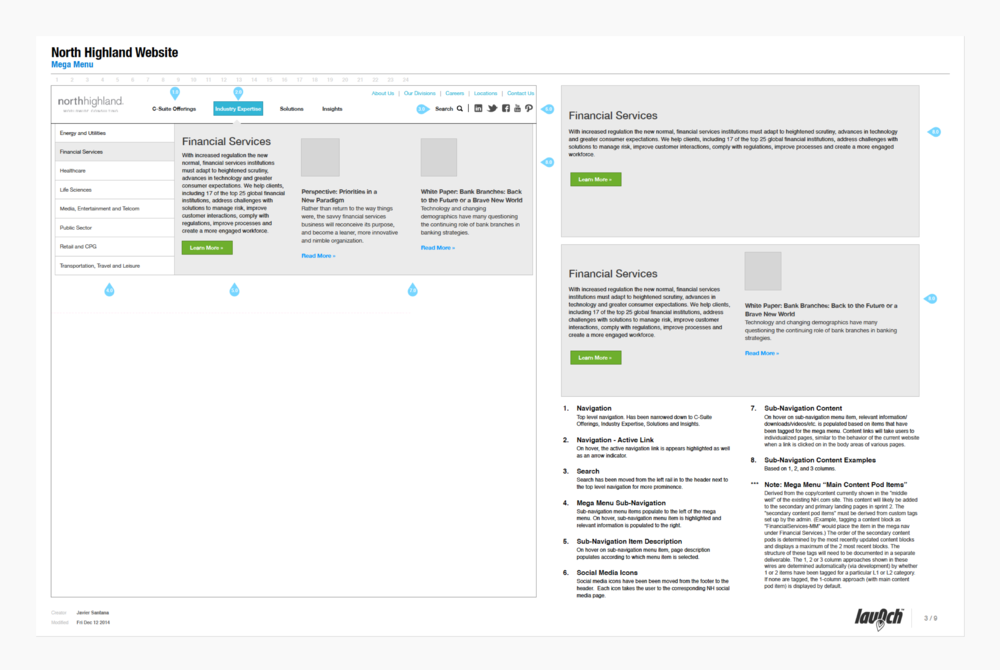 Wireframe documentation