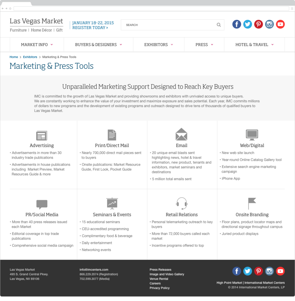 Marketing & Press Tools Page
