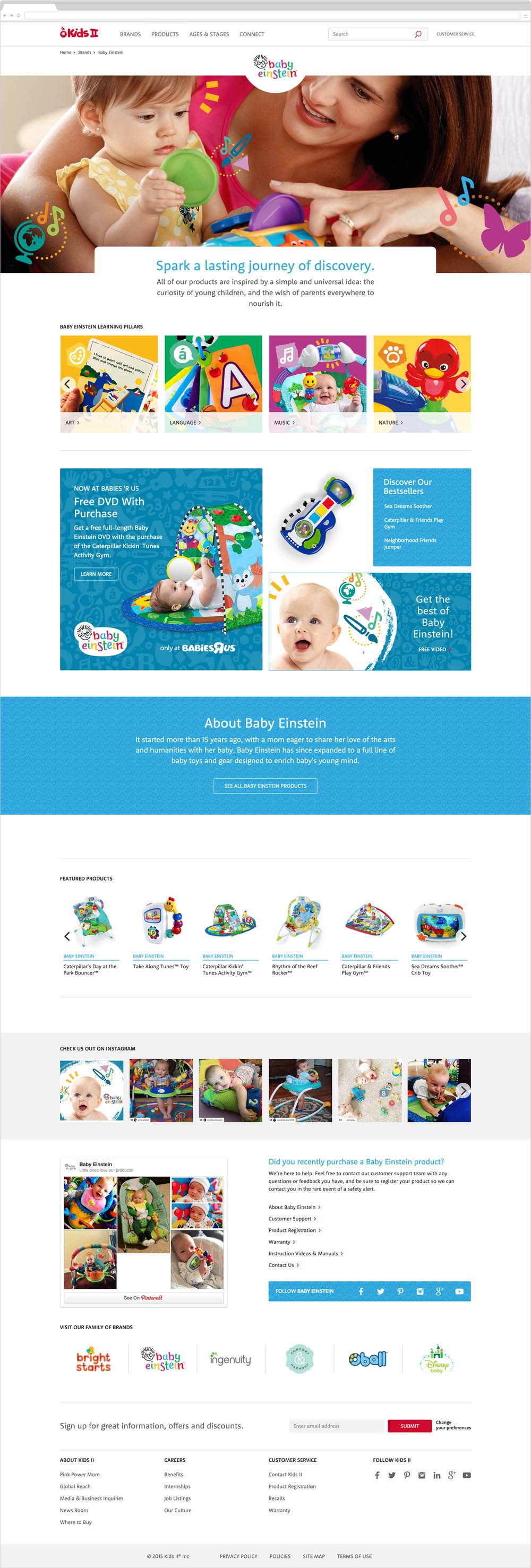Brand page - Baby Einstein