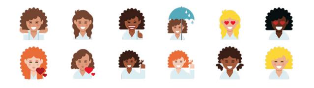 Dove released an emoji keyboard for curly hair emojis.