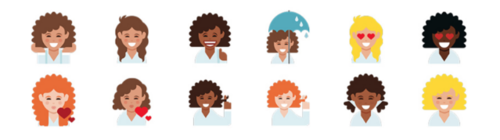 Dove released an emoji keyboard for curly hair emojis.
