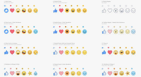 Facebook tested multiple iterations of their reaction emojis.