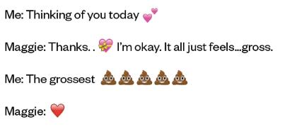 Emoji conversation among friends.